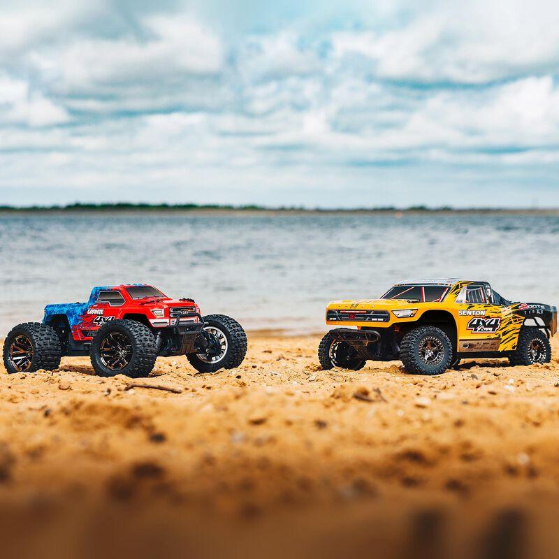 1/10 GRANITE 3S BLX 4WD Brushless Monster Truck with Spektrum RTR, Red/Blue