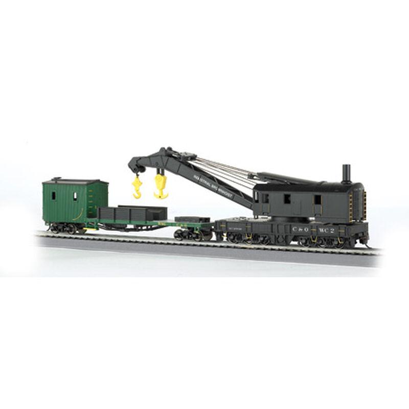 HO 250-Ton Steam Crane with Boom Tender, C&O