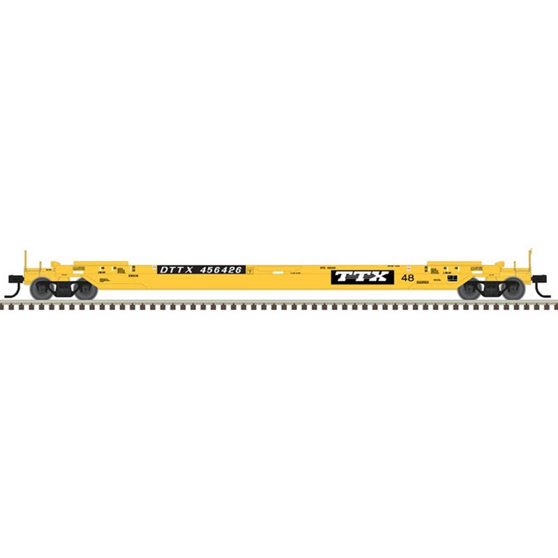 HO 48' Well Car TTX #456405, Yellow/Black/White