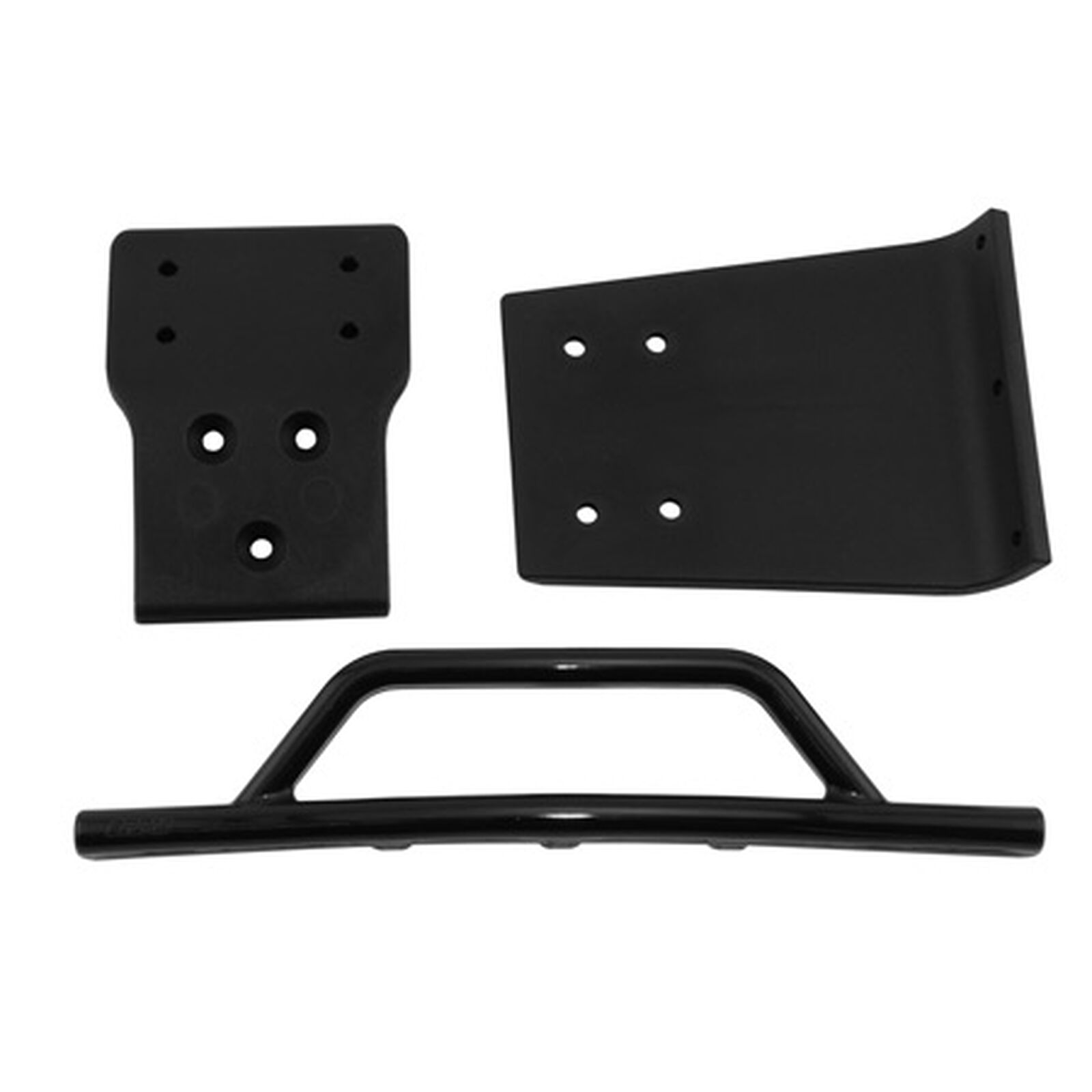Front Bumper/Skid Plate, Black: SLH 4x4