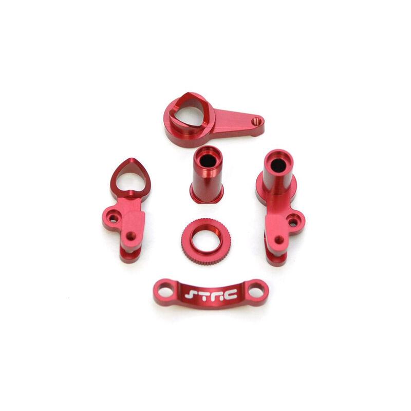 HD Aluminum Steering Bellcrank Set, Red: Slash 4x4
