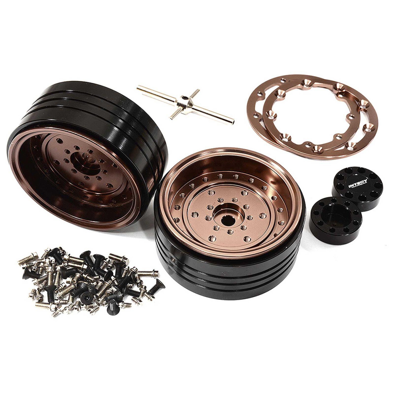Alloy Beadlock Wheels, Bronze: 1/10 Enduro Sendero