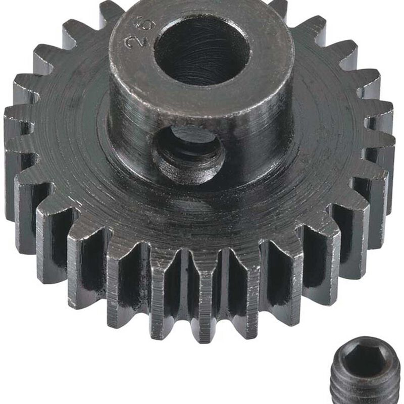 Extra Hard 26 Tooth Blackened Steel 32p Pinion, 5mm