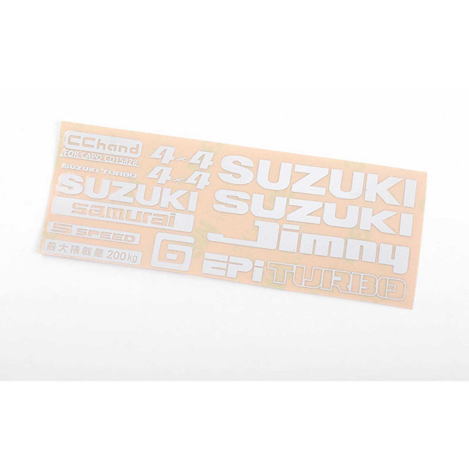 Logo Decal Sheet, White: Samurai 1/6 Crawler