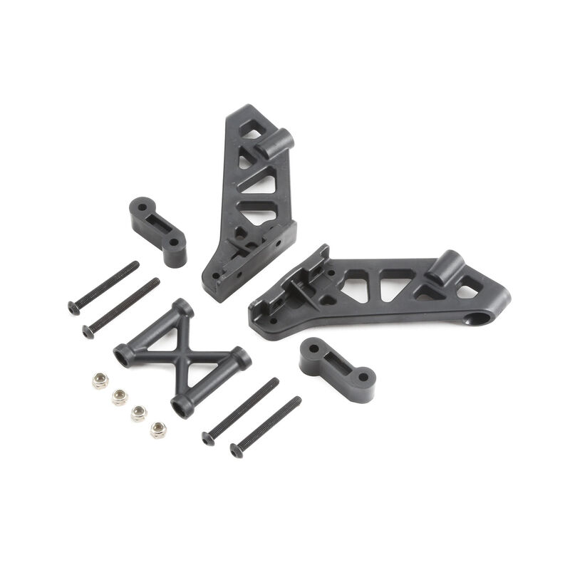 Left and Right Wing Mount Brace and Spacer: 5IVE B