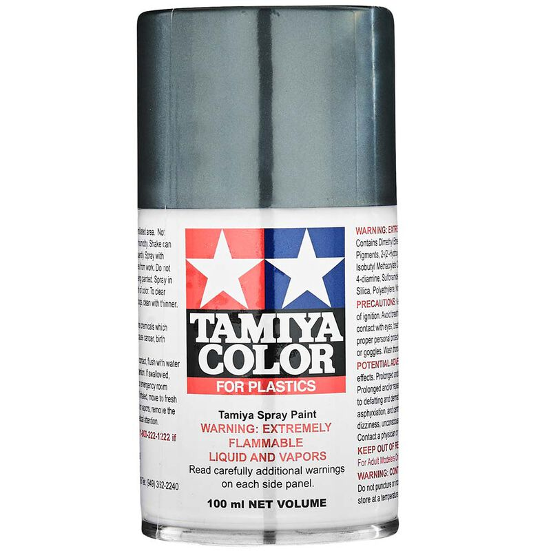 TS-100 Semi-Gloss Bright Gun Metal 100ml Spray Can