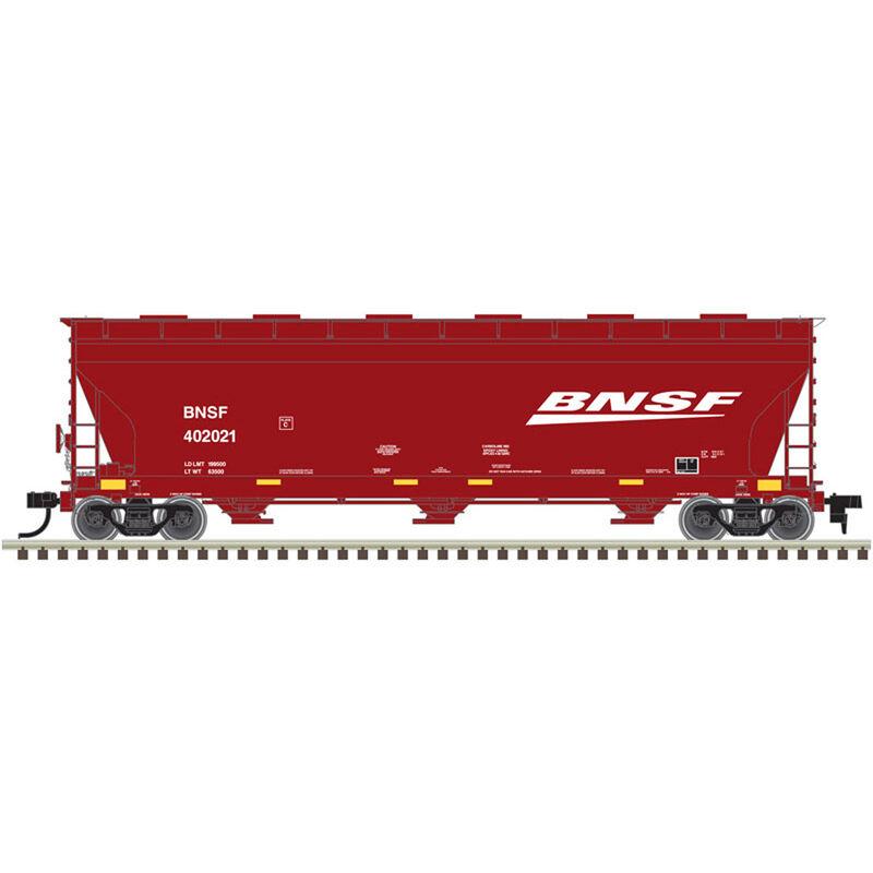 HO 4650 Covered Hopper BNSF Wedge #403612