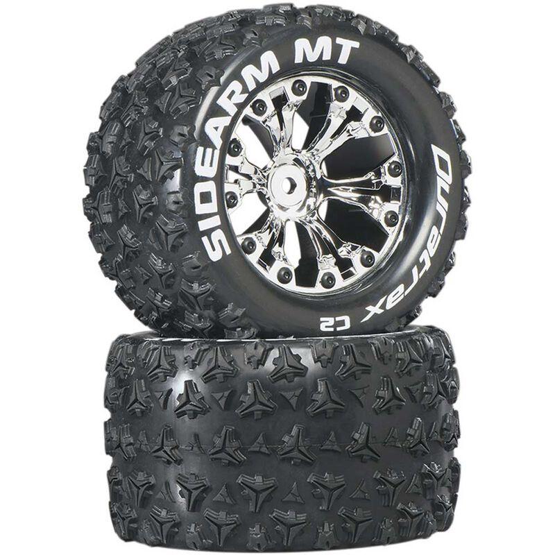 "Sidearm MT 2.8"" Mounted 1/2"" Offset C2 Tires, Chrome (2)"