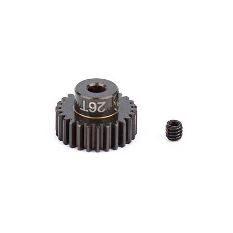 Factory Team Aluminum Pinion Gear, 26T, 48P, 1/8 shaft