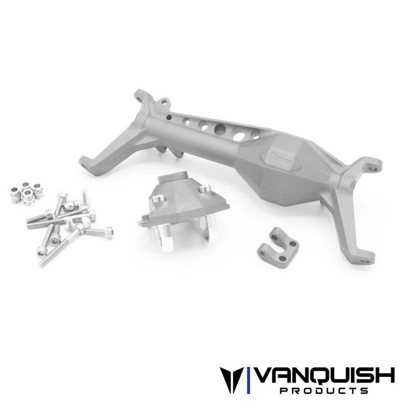 Currie F9 Front Axle, Clear Anodized: Axial SCX10 III
