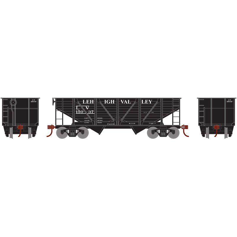 HO 34' 2-Bay Hopper with Coal Load LV #15037