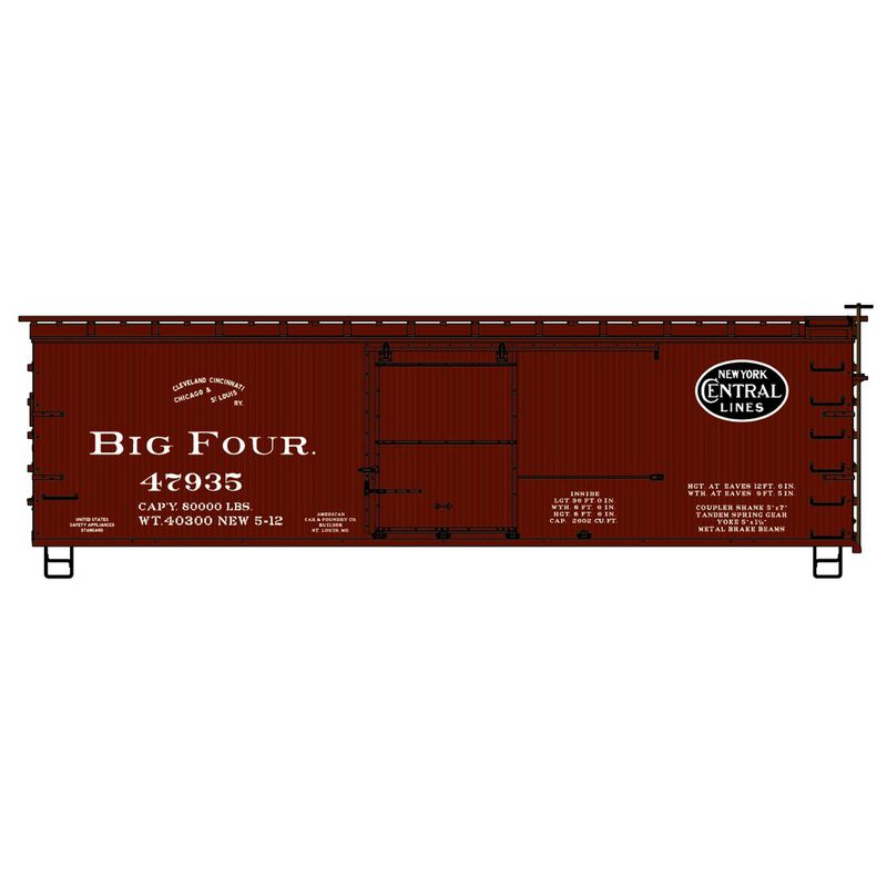 HO KIT 36' Double Sheath Box CCC&StL NYC