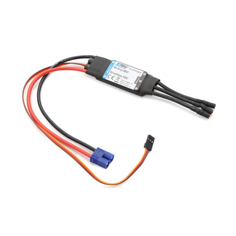 40-Amp BEC Brushless ESC: EC3
