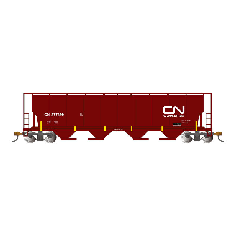 HO 4-Bay Cylindrical Hopper with FRED, CN/Oxide Red