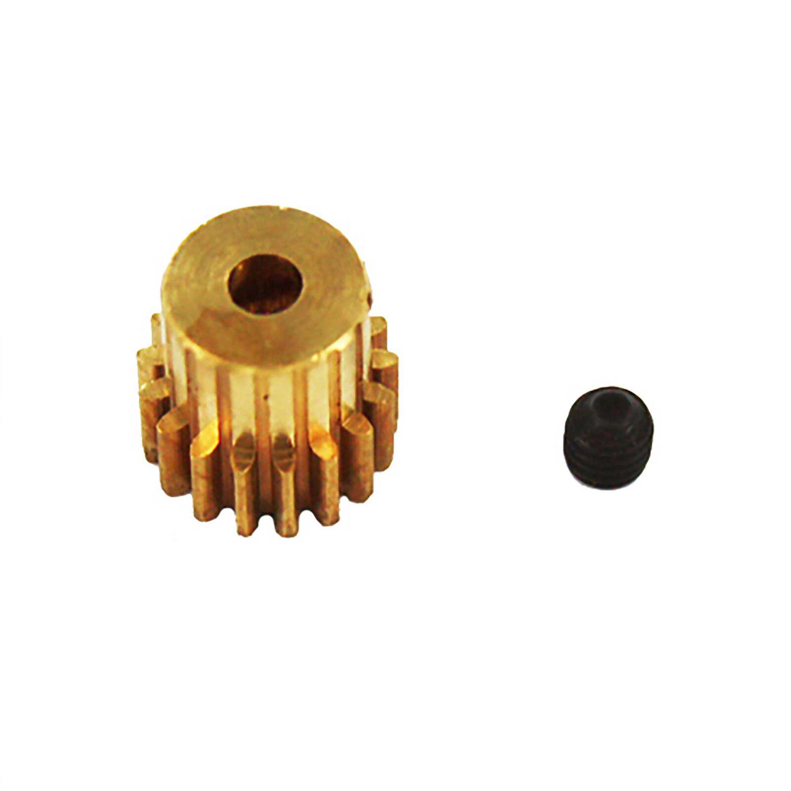 Brass Pinion Gear, 17T, .6 Module: Volcano