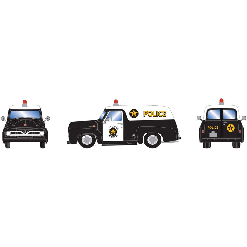 HO RTR 1955 F-100 Panel Truck Police Department