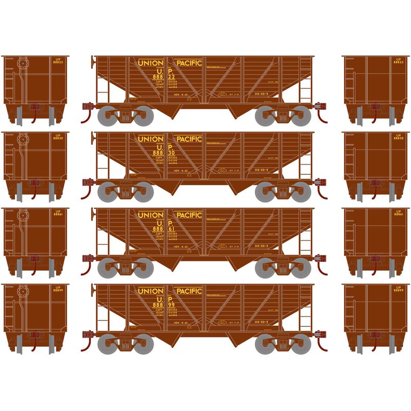 HO 34' 2-Bay Hopper with Coal Load UP #3 (4)