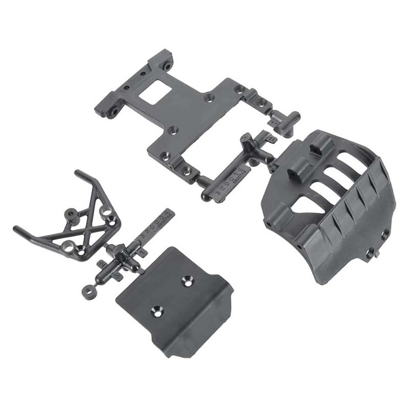 Bumper Rear Chassis Plate Set: Front