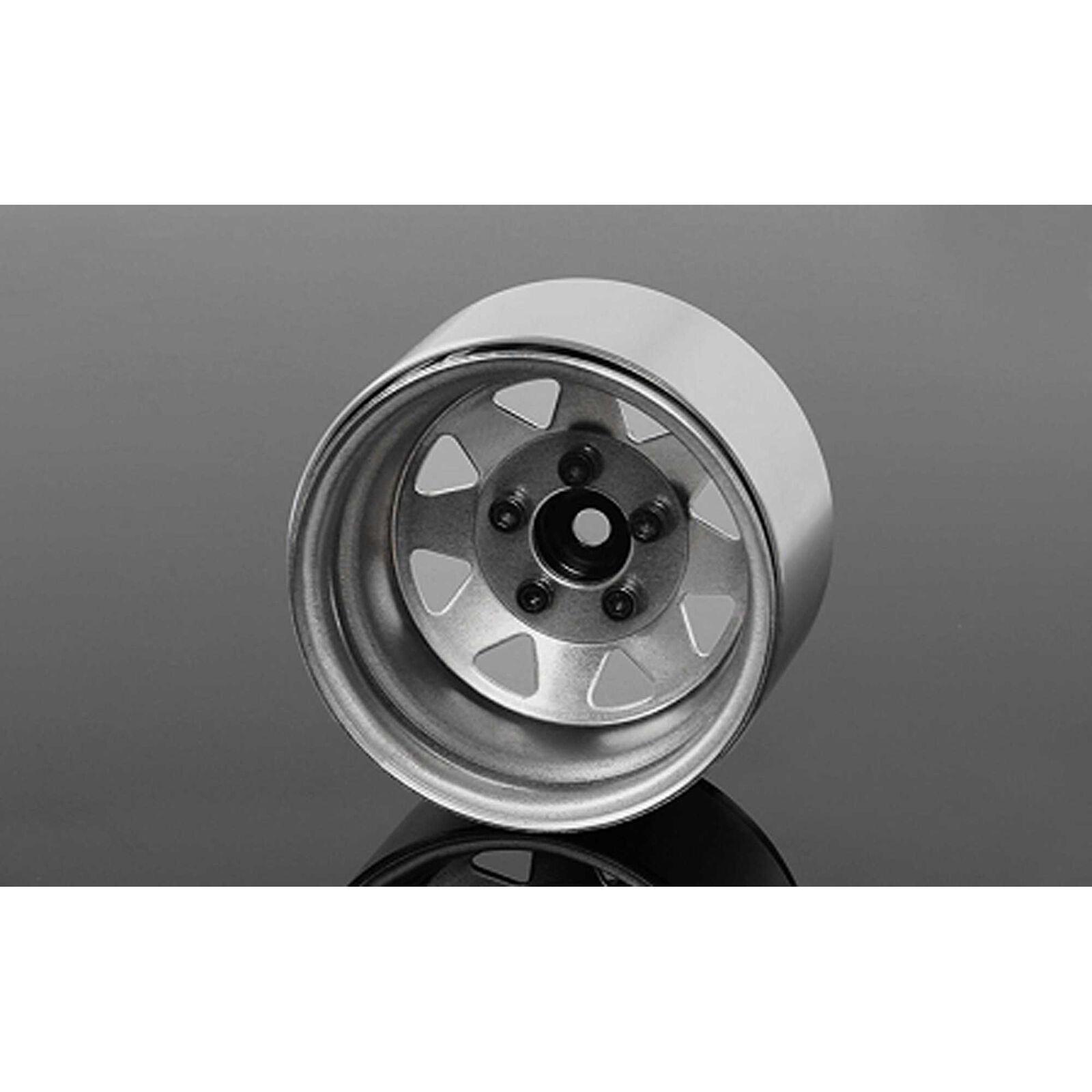 """5 Lug Deep Dish Wagon 1.9"""" Steel Beadlock Wheels (4)"""