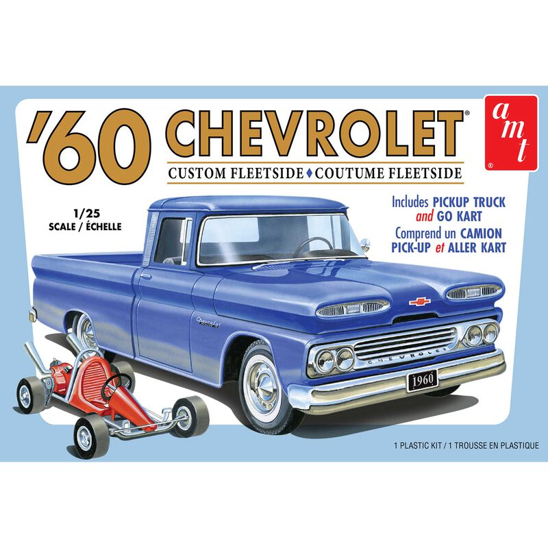 1/25 1960 Chevy Fleetside Pickup w Go Kart 2T