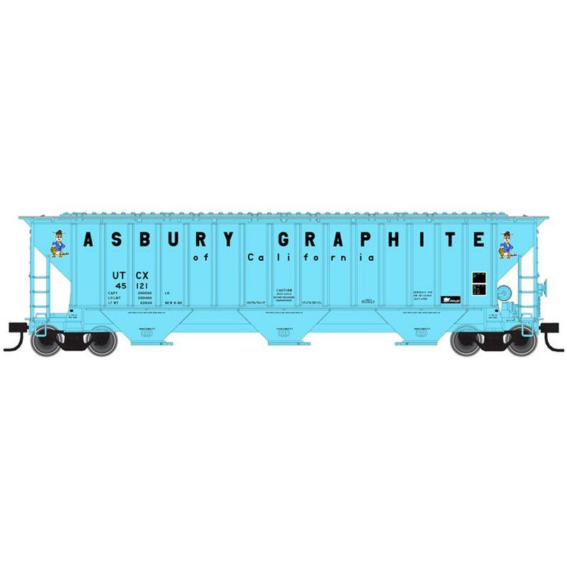 HO Thrall 4750 Cov Hop UCTX Asbury Graphite #45122