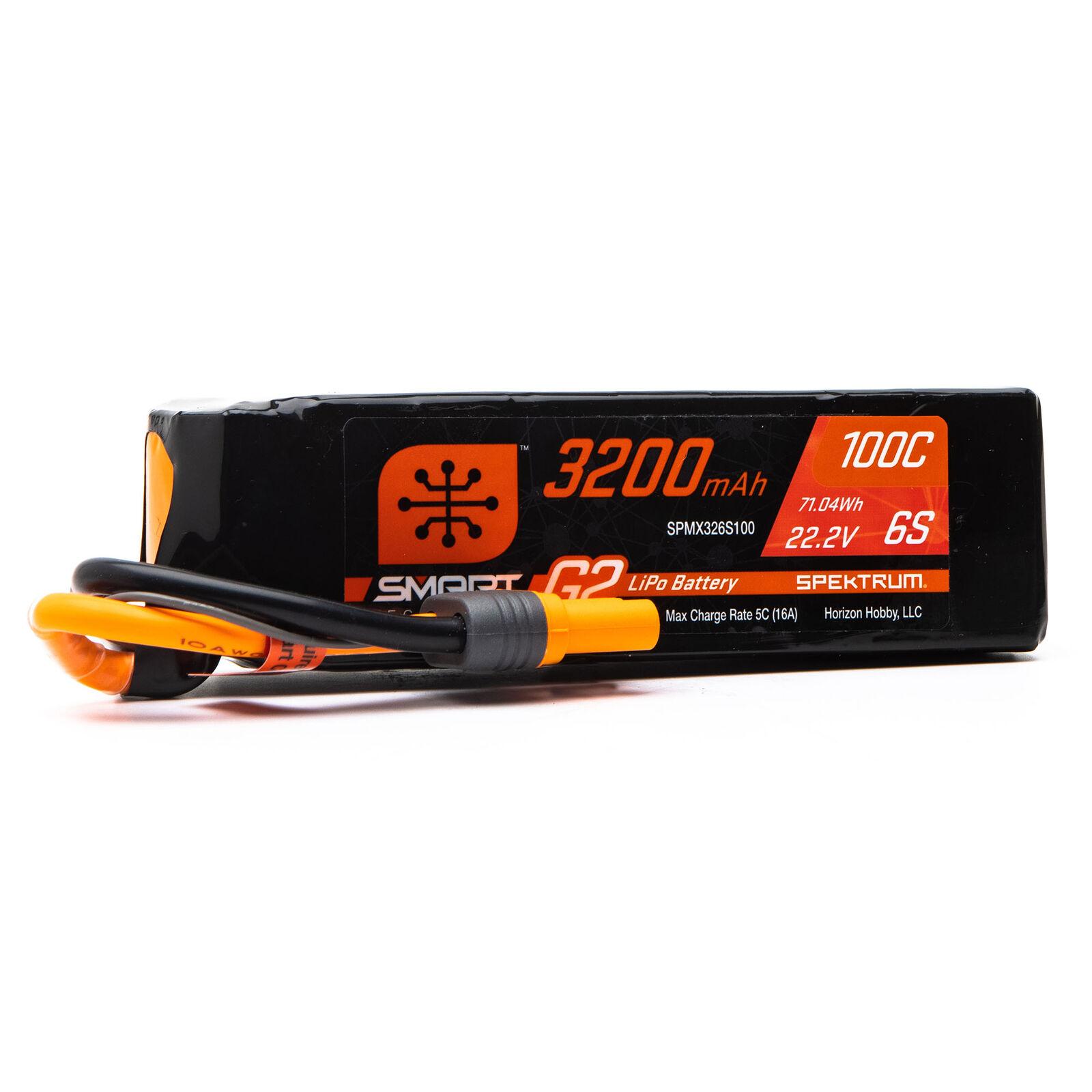 22.2V 3200mAh 6S 100C Smart G2 LiPo Battery: IC5