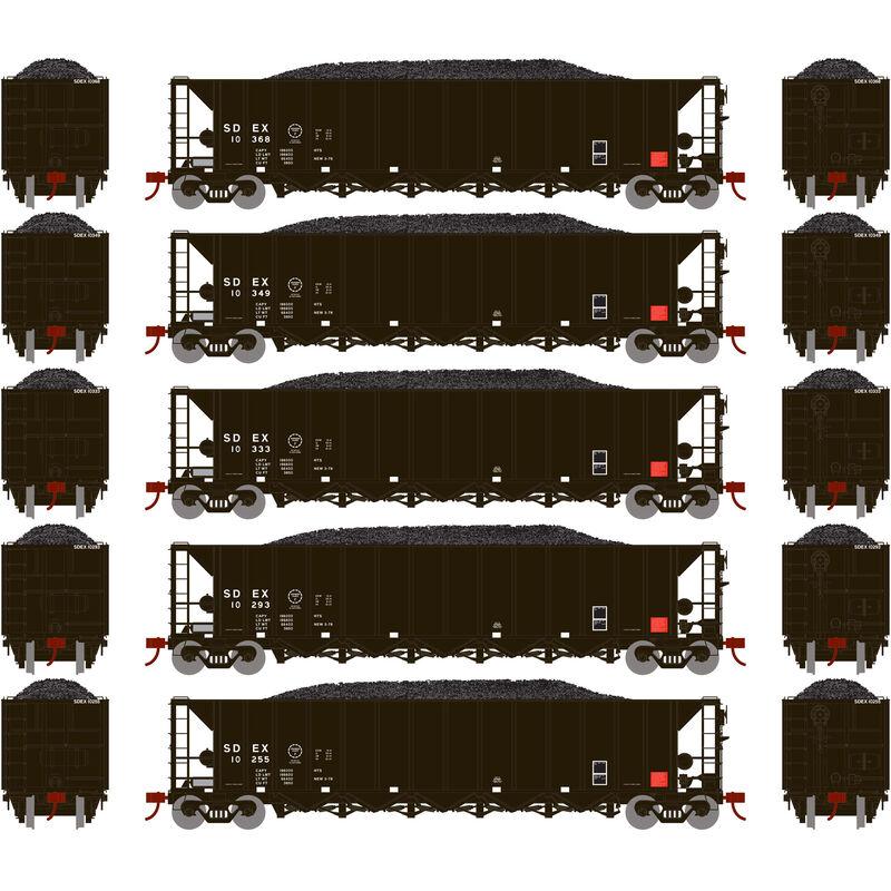HO RTR 5-Bay Rapid Discharge Hopper SDEX #3 (5)