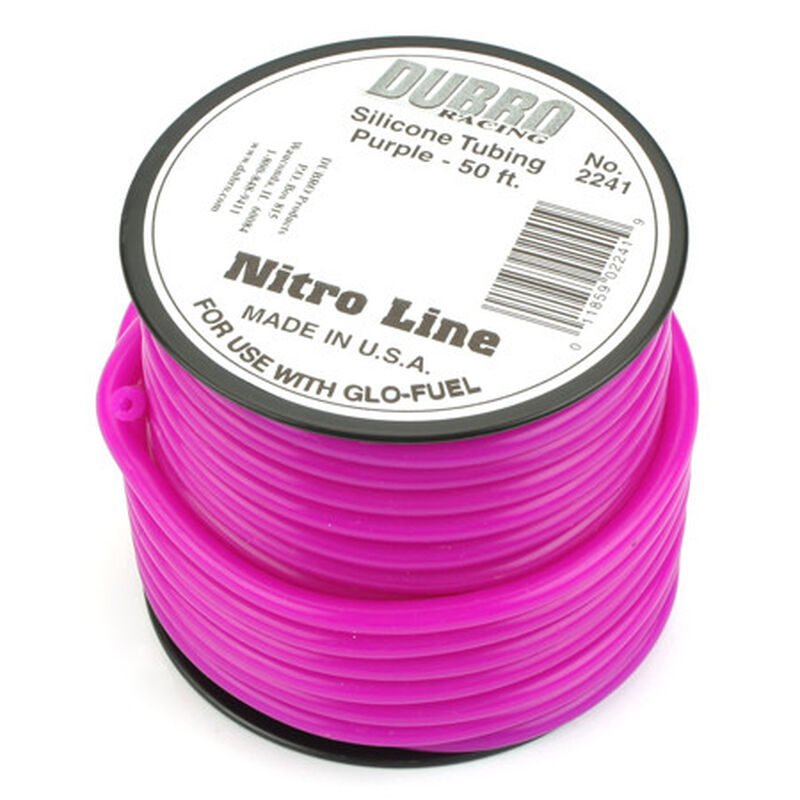 Silicone 50' Fuel Tubing, Purple