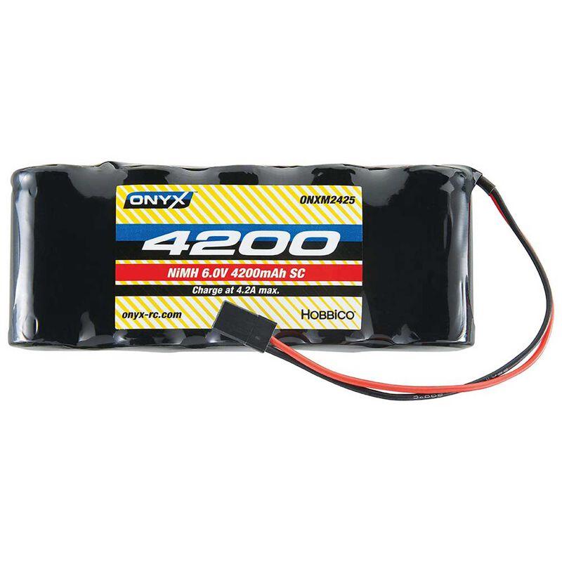 6.0V 4200mAh Sub-C NiMH Flat Receiver Battery: Universal Receiver