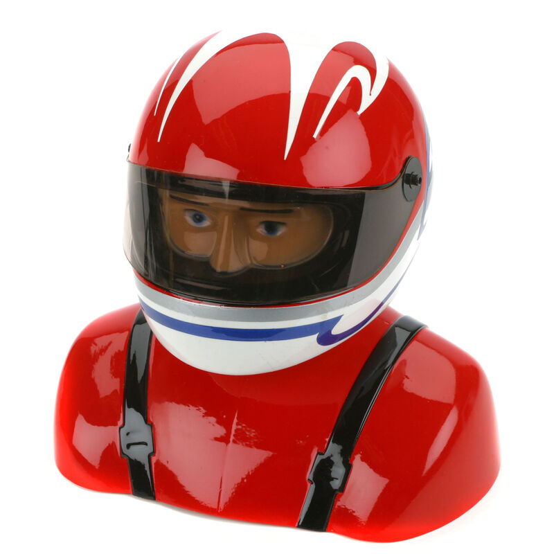 35%-40% Painted Pilot Helmet Red/White/Blue