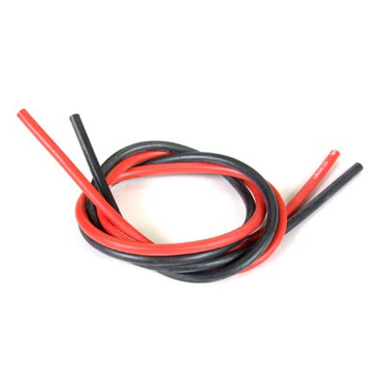 Wet Noodle 12 Gauge, 2' Red/Black