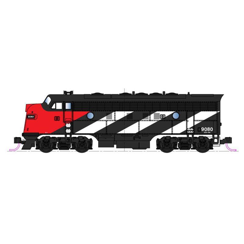 N EMD F7A & F7B 2-Locomotive Set CN #9080+ #9057