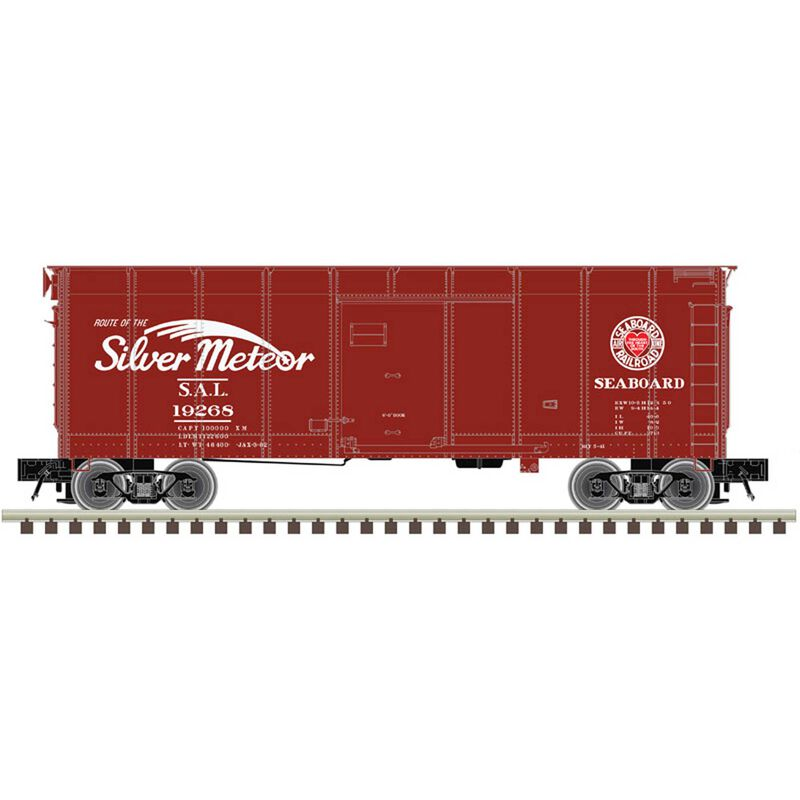O Wagon Top Boxcar 2Rail Seaboard, Silver Meteor