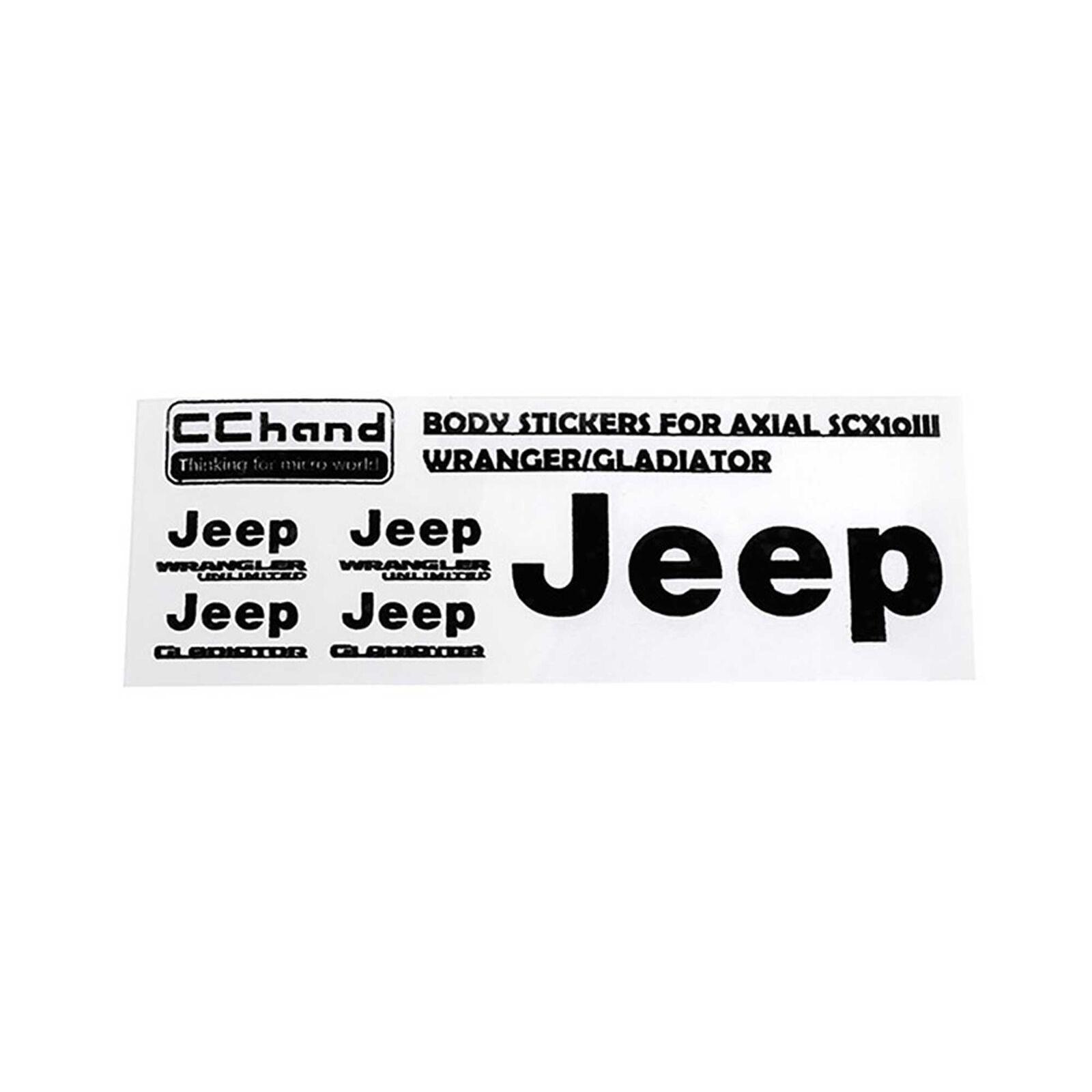 Decal Sheet - Axial 1/10 SCX10 III JeepGladiator