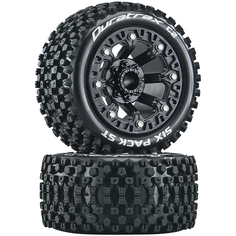 Six Pack ST 2.2 Tires, Black (2)