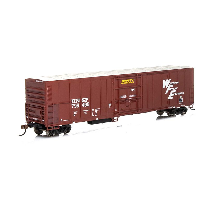 HO RTR 57' PCF Mechanical Reefer BNSF Brown#799495