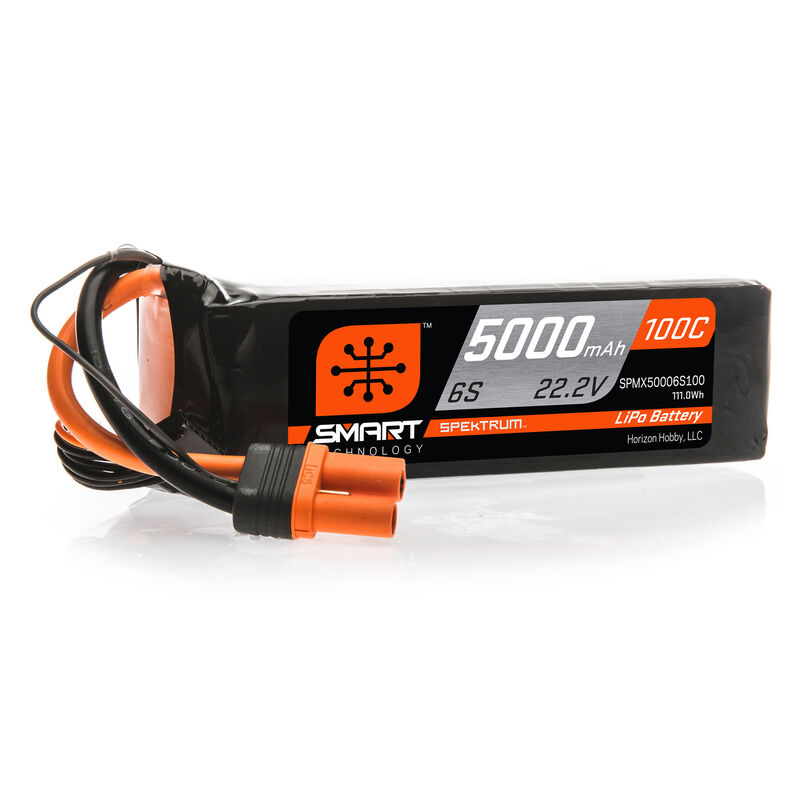 22.2V 5000mAh 6S 100C Smart LiPo Battery: IC5