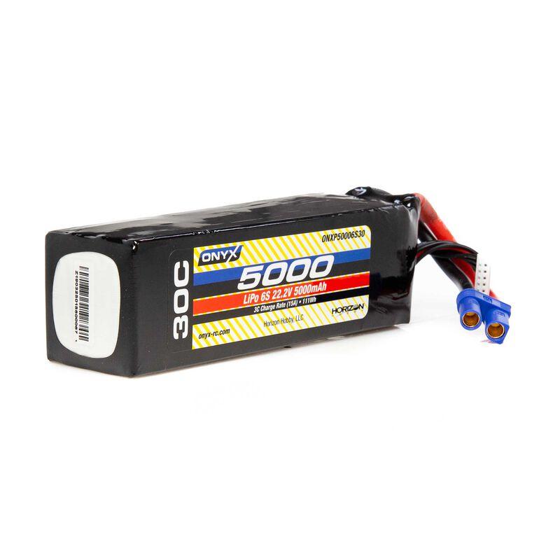 22.2V 5000mAh 6S 30C LiPo Battery: EC5