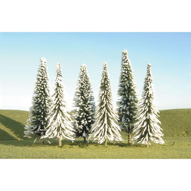 "Scenescapes Pine Trees w/Snow, 5-6"" (6)"