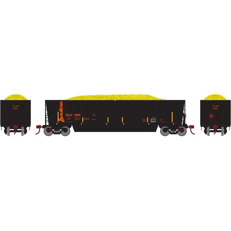 HO RTR Bathtub Gondola with Load SULX #1006