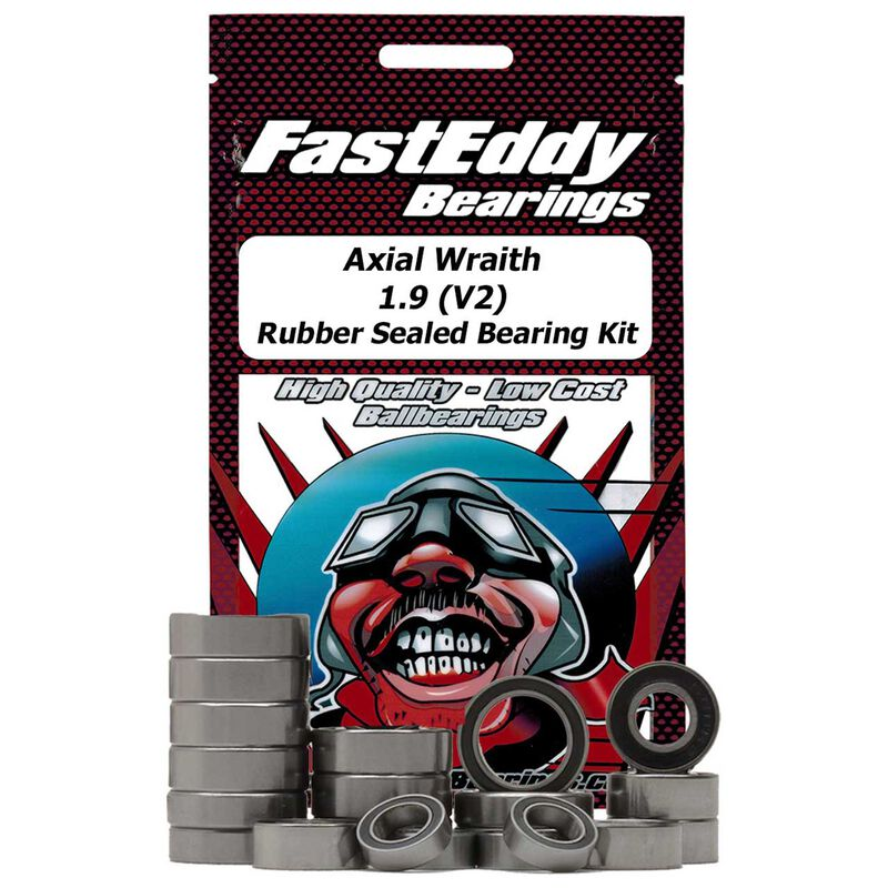 Sealed Bearing Kit: Axial Wraith 1.9 (V2) Rubber