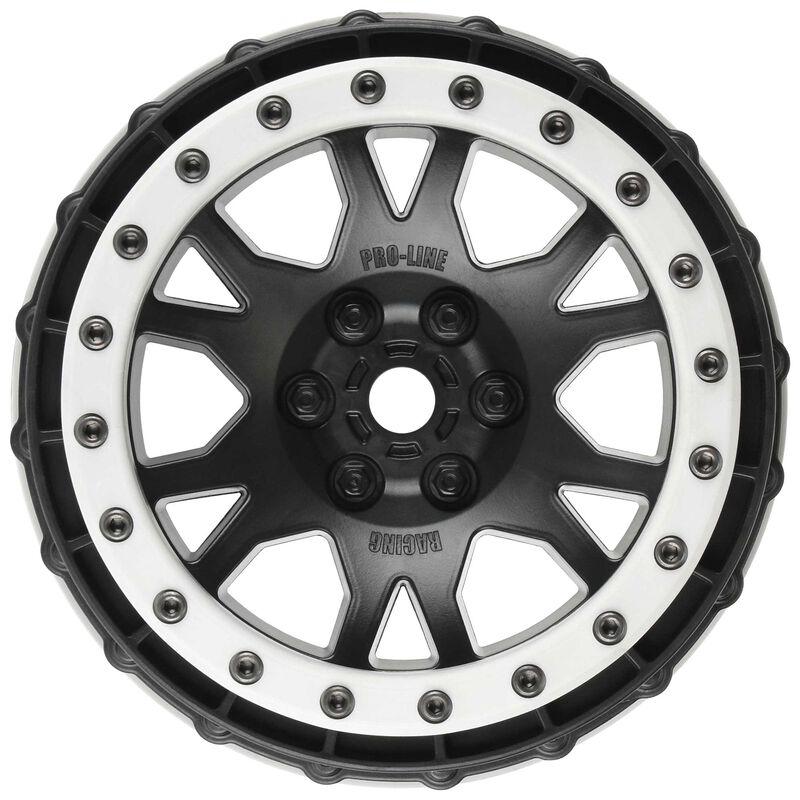 Impulse Pro-Loc Black Wheels with Gray Rings (2): X-Maxx