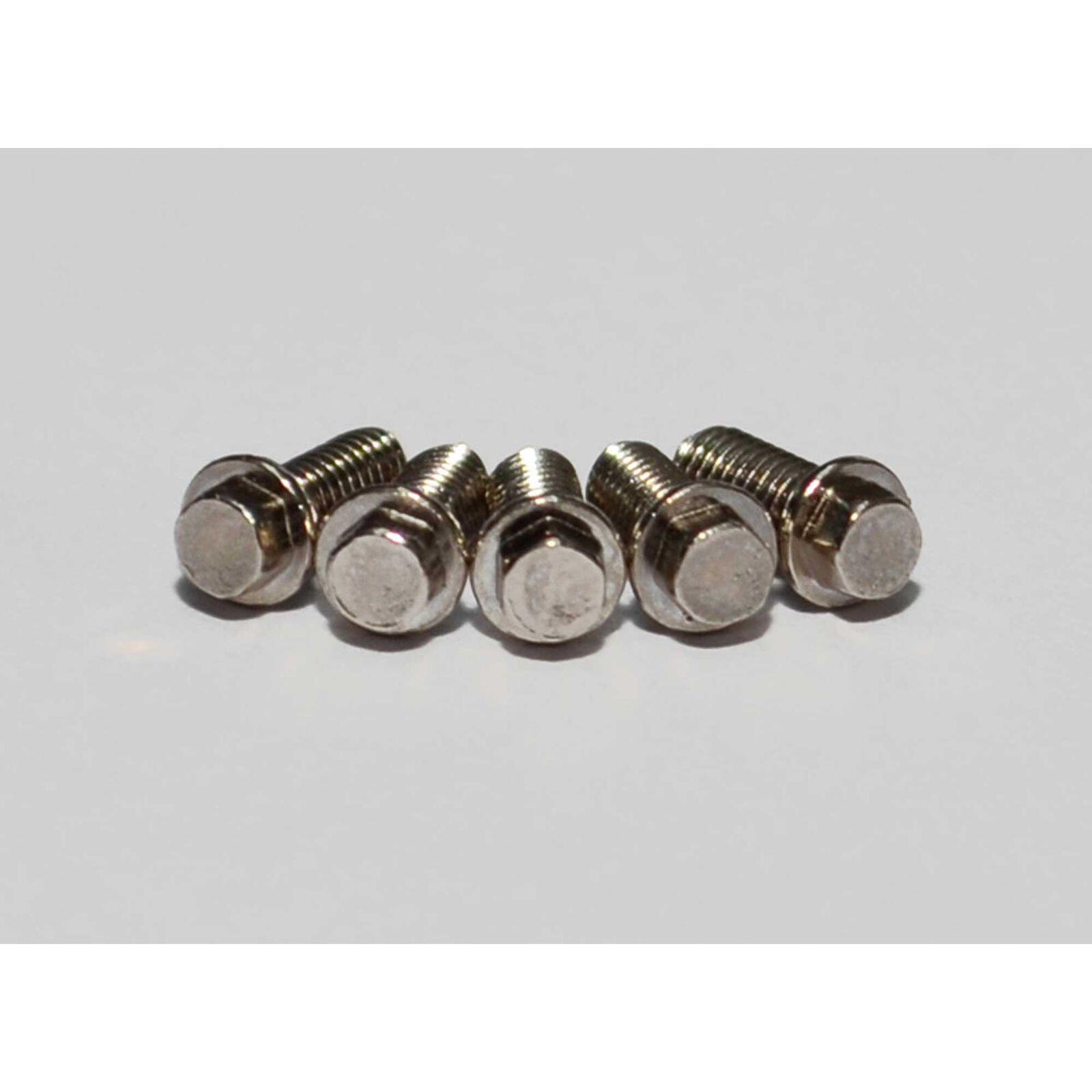Miniature Scale Hex Bolts, M2.5 x 6mm, Silver (20)