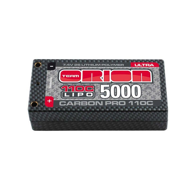 7.4V 5000mAh 2S 110C Carbon Pro Ultra Shorty Hardcase LiPo Battery: Tubes, 4mm