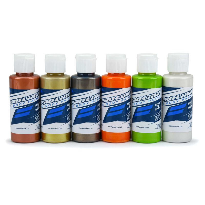 RC Body Paint Metallic Pearl Color (6 Pack)