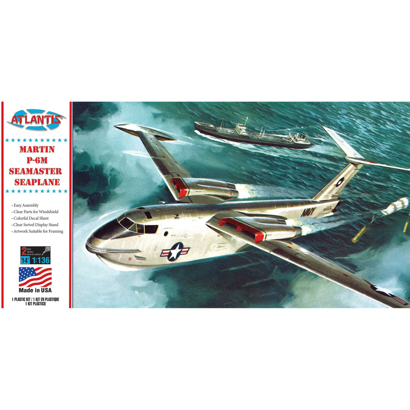 Martin US Navy P-6M Seamaster 1/136 Model Kit