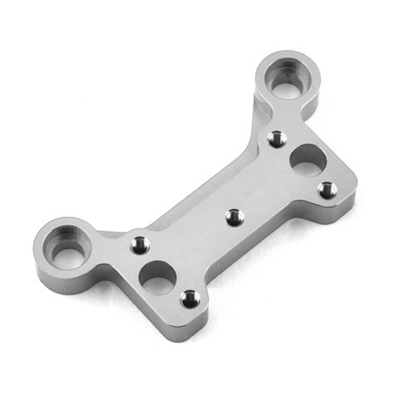 Front Upper Steering Post Brace: ARRMA OUTCAST 6S Silver