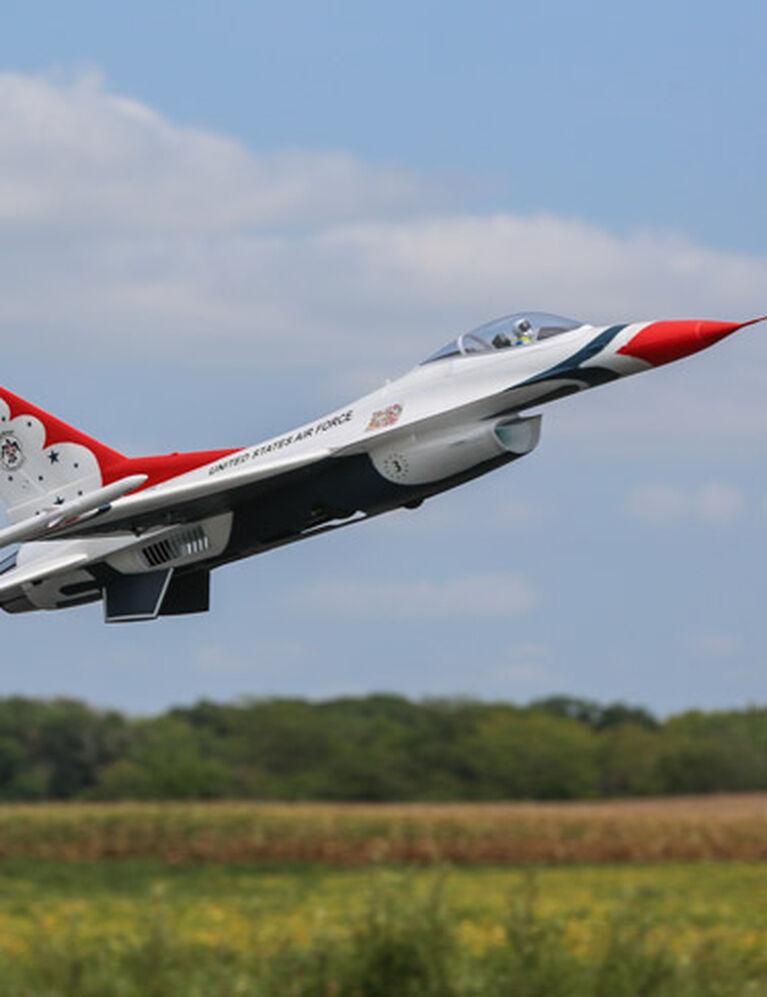 E-flite F-16 Thunderbird 70mm EDF BNF Basic w/AS3X