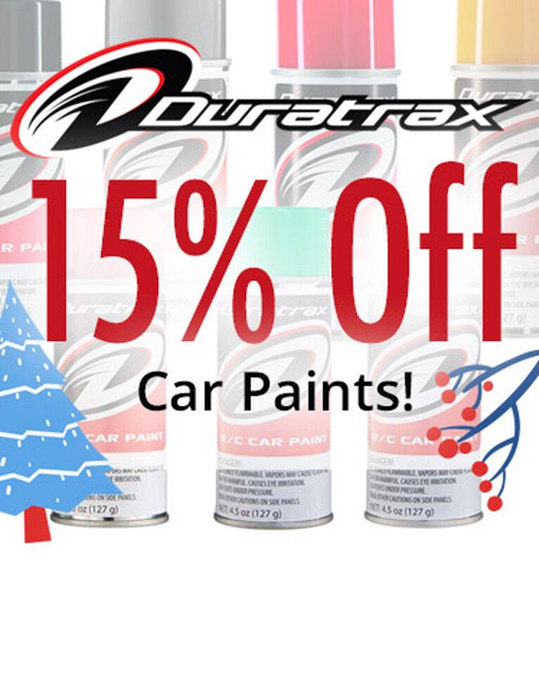 15% off Duratrax Car Paints