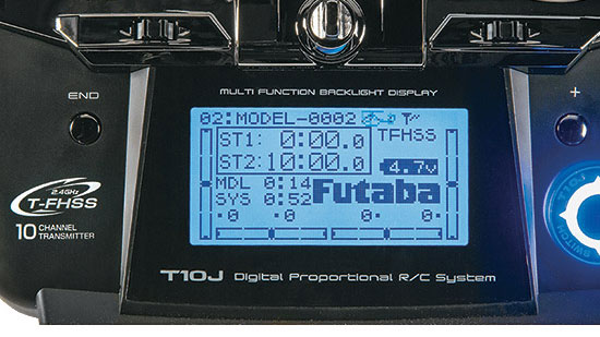 Futaba 10JA 10-Channel Air T-FHSS System - LCD Display